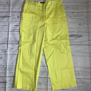BURBERRY GOLF Ladies Yellow Capri Crop PANTS Sz 4
